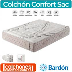 Colchón de Muelles y Viscoelástica Confort Sac de Bardón