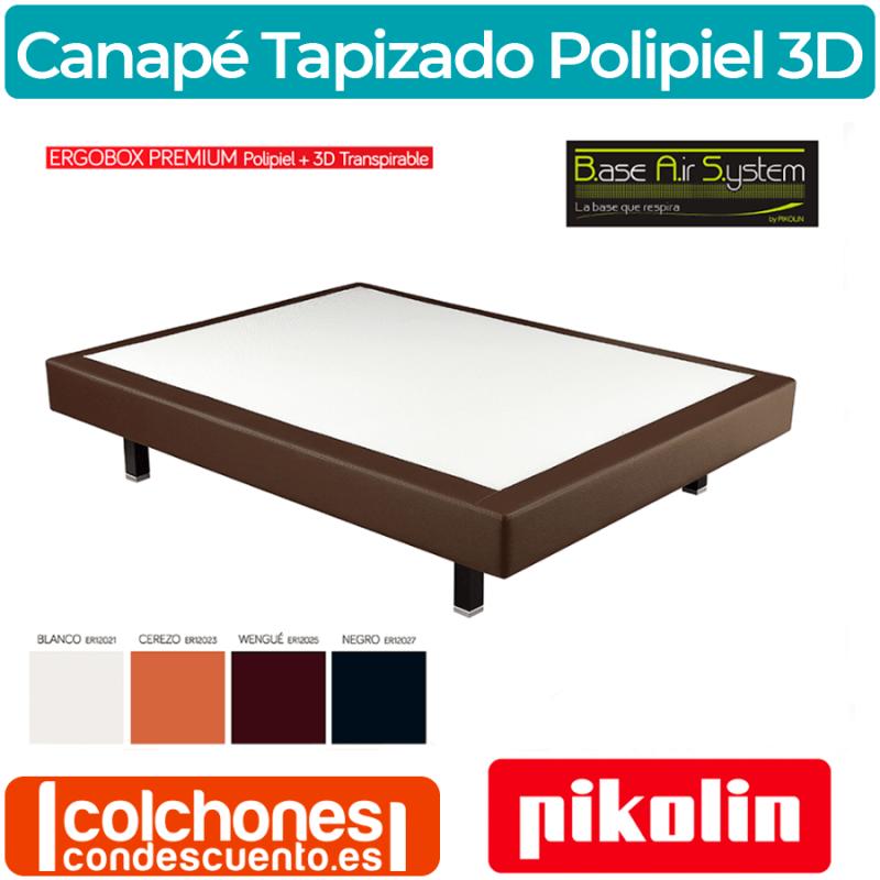 Base Tapizada Ergobox Polipiel y Tejido 3D Transpirable de Pikolin