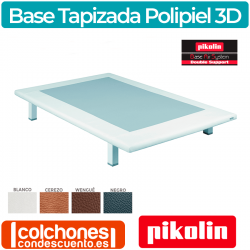 Base Tapizada Divanlin Polipiel + 3D Transpirable de Pikolin