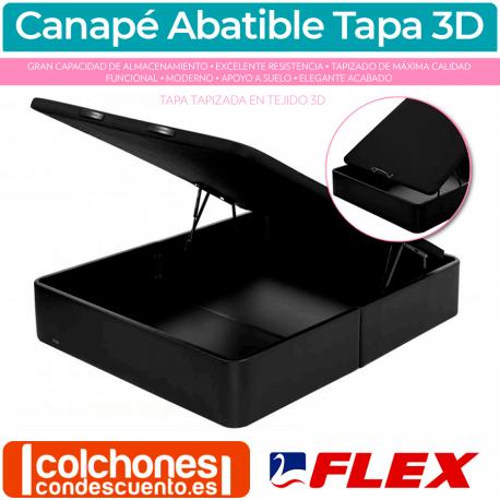 Canapé Abatible flex Tapizado con Tapa 3D