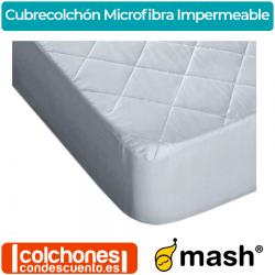 Cubrecolchón Acolchado Microfibra Impermeable Mash