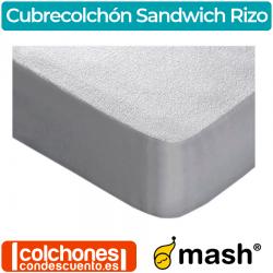 Cubrecolchón Algodón Sandwich Rizo Impermeable de Mash