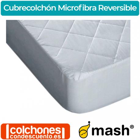 Cubrecolchón Acolchado Microfibra Reversible de Mash