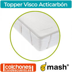 Topper Visco con Carbón activo de Mash