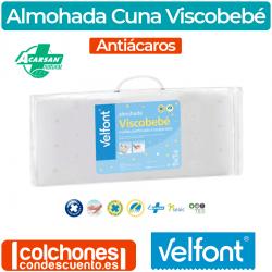 Almohada Cuna Viscobebé Antiácaros de Velfont