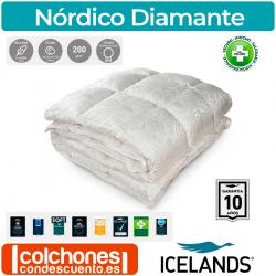Relleno Nórdico Diamante Plumón de Oca Blanca y Seda de Icelands