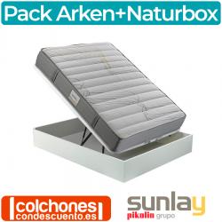 Pack Canapé de Naturbox + Colchón Arken de Sunlay Grupo Pikolin