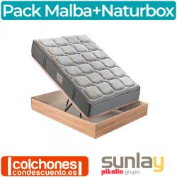 Pack Canapé de Naturbox + Colchón Malba de Sunlay Grupo Pikolin