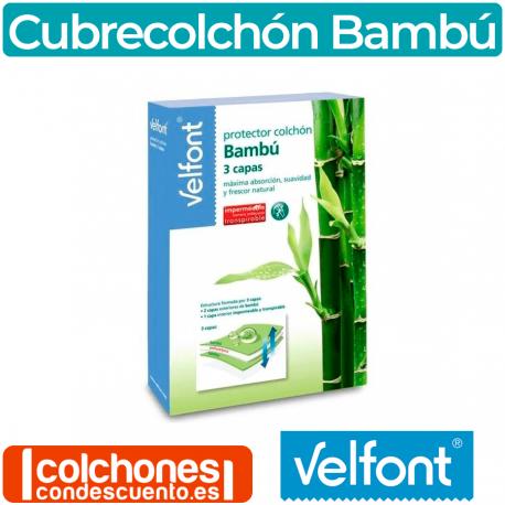 Cubrecolchón Impermeable Bambu 3 Capas Velfont