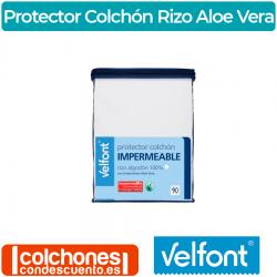 Protector Colchón Impermeable Rizo Aloe Vera de Velfont®