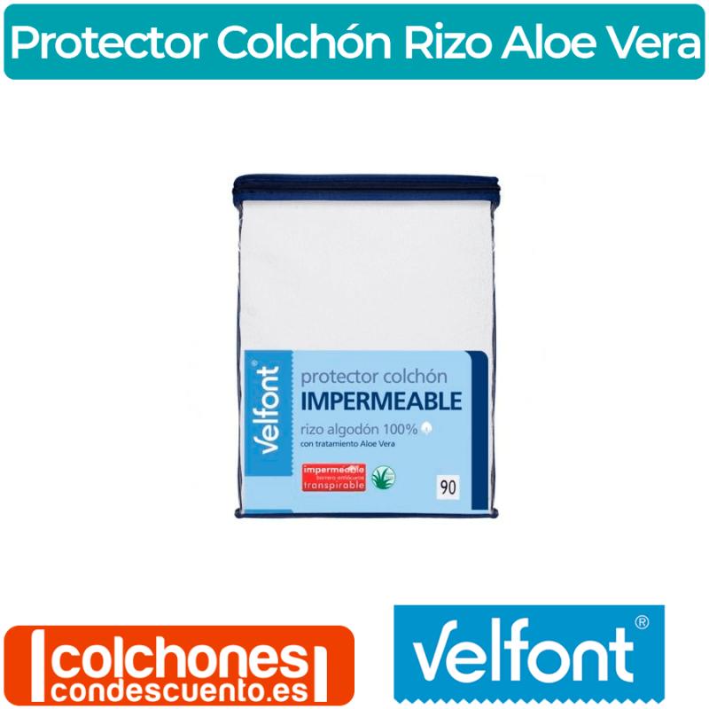 Protector de Colchón Impermeable Rizo Aloe Vera Velfont®