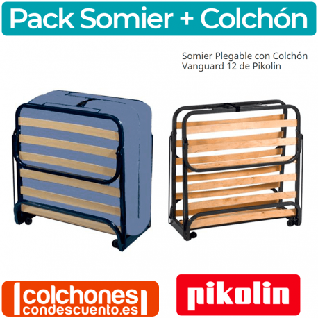 Colchón + Somier Cama Plegable de Pikolin