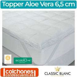 Sobrecolchón (Topper) Fibra Aloe Vera de Classic Blanc TC38