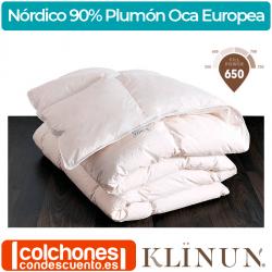 Relleno Nórdico 90% Plumón Oca Blanca Europea de Klinun