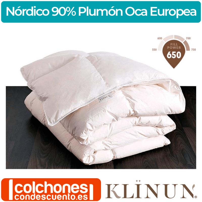 Relleno Nórdico Klinun Plumón de Oca Blanca Europea 120, 160 y 220 grs