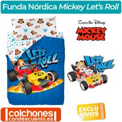 Juego de Funda Nórdica Mickey Mouse Let's Roll