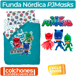 Juego de Funda Nórdica PJMasks To Be a Hero