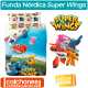 Juego de Funda Nórdica Super Wings Friends