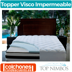Topper Viscoelástico Visco Impermeable de Top Nimbos