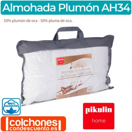 Pikolin Home 40x75cm altura 12cm funda 100/% algod/ón firmeza baja Todas las medidas Almohada de plum/ón 30/%
