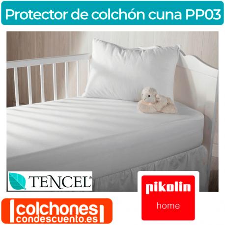 Bamb/ú Protector de colch/ón en el blanco para cuna 60x120 cm de tama/ño