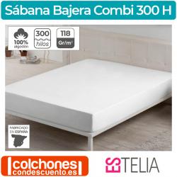 Sábana Bajera Liso Combi Algodón 300 hilos Estelia