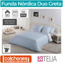 Juego Funda Nórdica Duo Greta 200 Hilos de Estelia