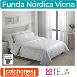 Juego Funda Nórdica Jacquard Viena de Estelia