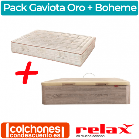 Pack Relax Canapé Boheme + Colchón Gaviota Oro