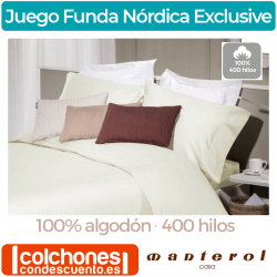 Juego Funda Nórdica de 400 hilos Exclusive de Manterol Casa