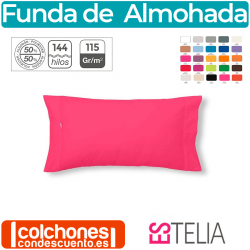 Funda de Almohada Liso Combi 50% Algodón/50% Poliéster 144 Hilos Estelia OUTLET