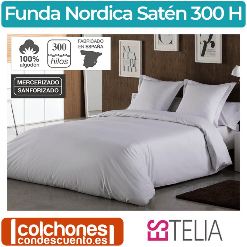 Juego Funda Nórdica Algodón Satén 300 Hilos de Es-tela