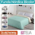Fundas Nórdicas de Colores Liso Bicolor de Estelia
