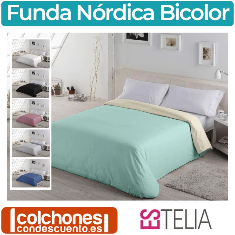 Fundas Nórdicas de Colores Modelo Liso Bicolor de Es-tela