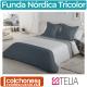 Fundas Nórdicas de 3 Colores Modelo Liso Tricolor de Es-tela