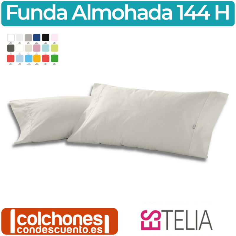 Funda de Almohada Liso Combi 50% Algodón/50% Poliéster 144 Hilos de Es-Telia