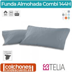Funda de Almohada Liso Combi 100% Algodón 144 Hilos de Es-Telia