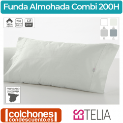 Funda Almohada de Es-Tela Algodón de 200 Hilos