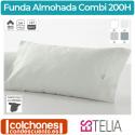 Funda Almohada Liso Combi de Estelia Algodón de 200 Hilos