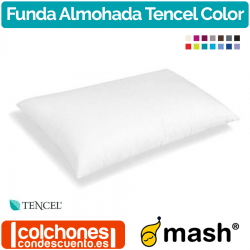 Funda de Almohada Tencel Color 100% de Mash
