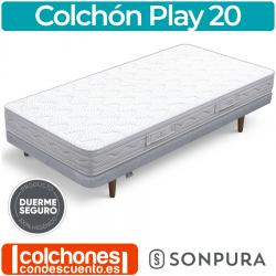 Colchón Juvenil de Muelles ensacados y Visco Play20 de Sonpura