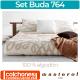 Set de Colcha y Funda de Cojín 100% algodón Buda 764
