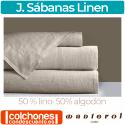 Juego de Sábanas Linen 50% Lino 50% Algodón de Manterol Casa