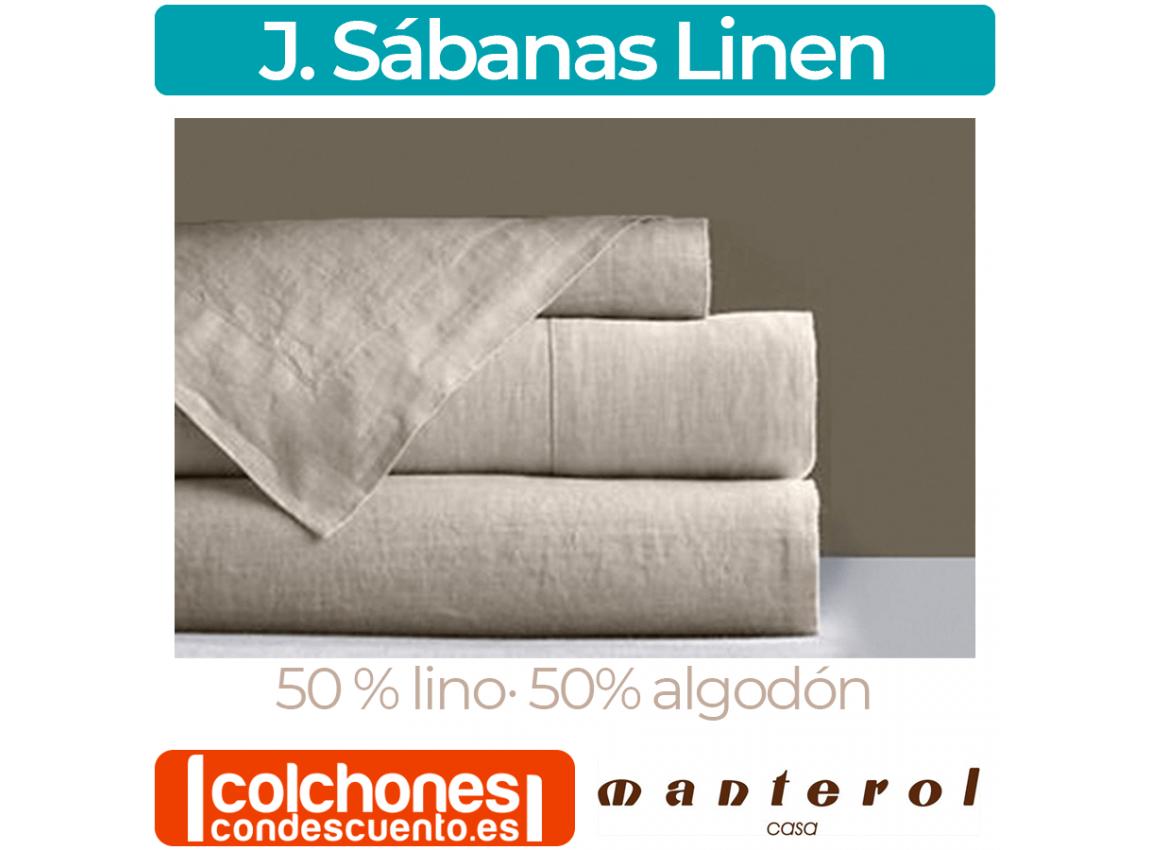 Juego de Sábanas Linen 001 50% Lino y 50% Algodón de Manterol Casa