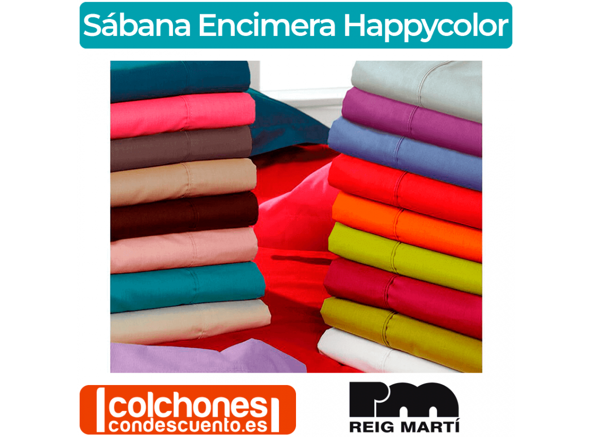 Sábana Encimera Happycolor 50% Algodón 50% Poliéster Reig Marti