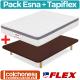 Pack Colchón Flex Nube Visco 19 + Base Tapiflex