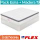 Pack Colchón Flex Esna Visco + Canapé Madera 19