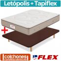 Pack Colchón Flex Letópolis Visco + Base Tapiflex