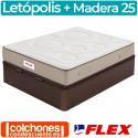 Pack Colchón Flex Letópolis Visco + Canapé Madera 25