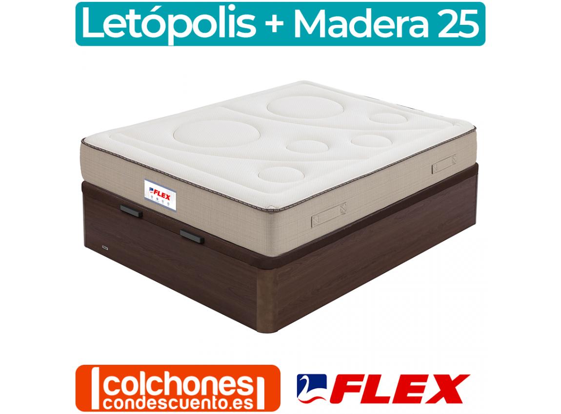 Pack Colchón Flex Esna Visco + Canapé Madera 25